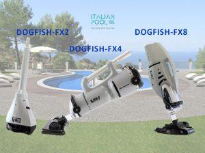 aspiratori dog-fish per piscina, per il trattamento di manutenzione