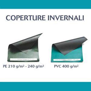coperture invernali in PE e PVC per piscina