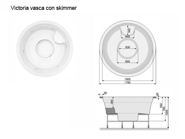 vasca spa Victoria con skimmer